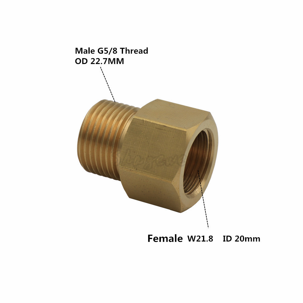 Co2 Tank Regulator Convert Adapter W21.8 G58-standard Co2 tank no pin to Regulator (3)
