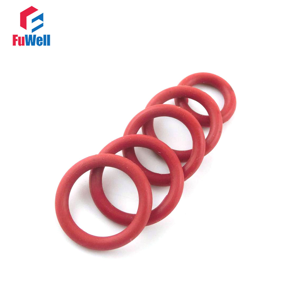 100pcs 3mm Thickness Red Silicon O-ring Seals 21/22/23/24/25/26/27/28/29/30/31mm OD Rubber O Ring Sealing Gasket o ring for eheim 2213 and 2013 canister filters red