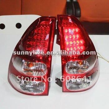 Prado 2700 4000 FJ120 LC120 LED Tail light 2003-09 Red White Color V1 Type