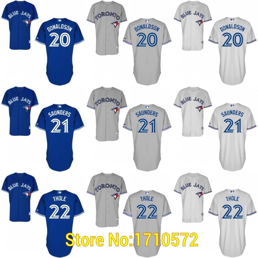 super popular 56566 75e42 Authentic Men's Toronto Blue Jays Shirt 20 Josh Donaldson 21 ...
