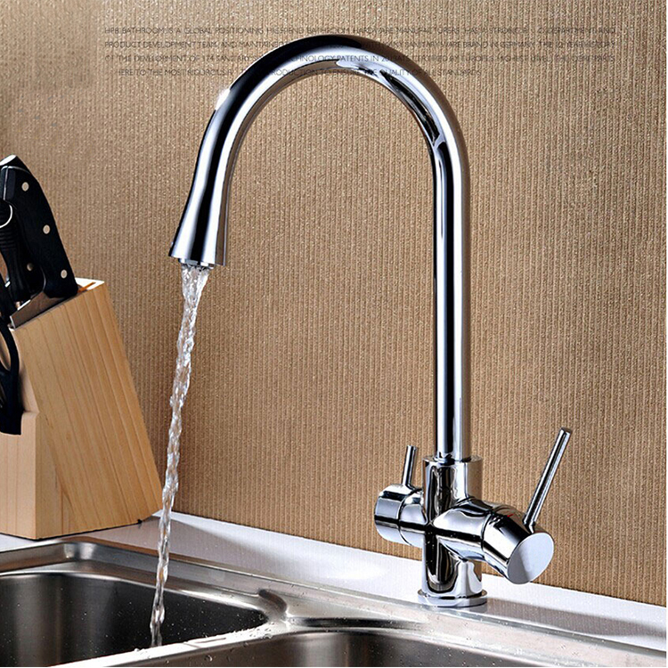 Brass Kitchen Faucet, 2 Functions, Hot & Cold Mixing Water, Purified ...