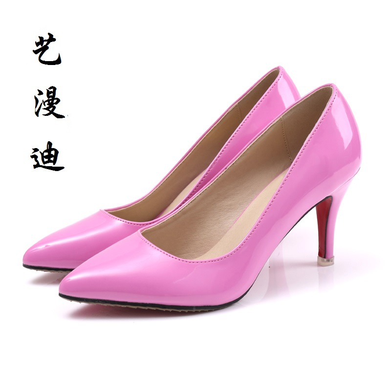 цена на 2017 Size 31-43 Red Sexy High Heels Women Pumps Ladies Shoes Woman Wedding Shoes Chaussure Femme Talon Black White 32 33 34 42