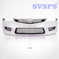 High Quality Car Styling Front Bumper With Grille For Honda Civic 4 Door 2006 2011 Year