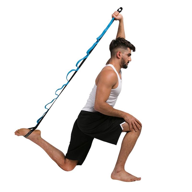 <+>  2 метра Yoga Stretch Strap Band Пояс Фитнес Фитнес Пилатес 10 Петель Trianing Регулируемое Упражнени ①