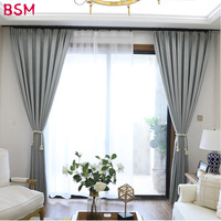 Nordic Grey Solid Curtains For Bedroom Modern Living Room Curtains White Leaves Embroider Tulle Curtains Drapes Window AWB0408