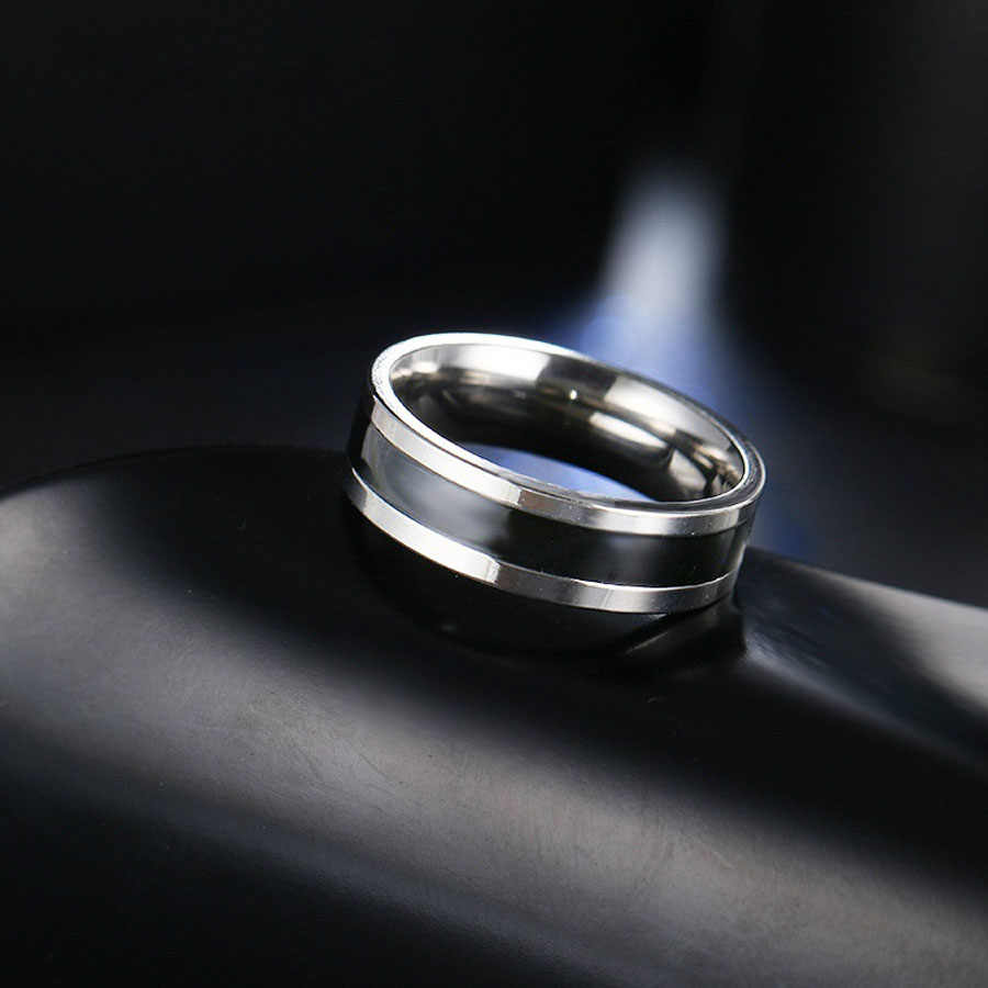 2018 Modis Perhiasan Terapi Magnetik Permukaan Kesehatan Weight Loss Lingkaran Anillos Mujer Cinta Anti Karat Cincin untuk Wanita Pria