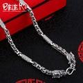 Beier nueva tienda 100% 925 plata esterlina collares colgantes dragón collar de cadenas de joyería fina para las mujeres/hombres br925xl077