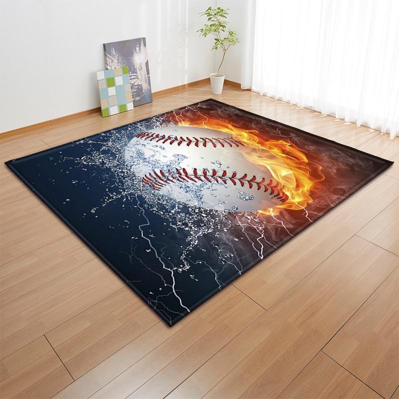 Sports Decor Retro Home Plate Baseball Bath Rugs Non-Slip Floor Indoor Door Mat