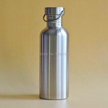 1000 ML Edelstahl Radfahren Camping Sport Trinken Breiten Mund Wasserflasche Student Metall Trinkbehälter Außen Flaschen