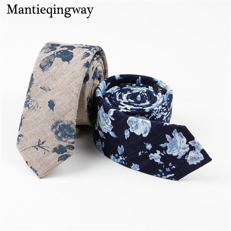 Mantieqingway-Formal-Wear-Business-Floral-Tie-Wedding-Bow-Tie-Neckwear-Accessories-Corbatas-Fashion-Cotton-Printed-Ties