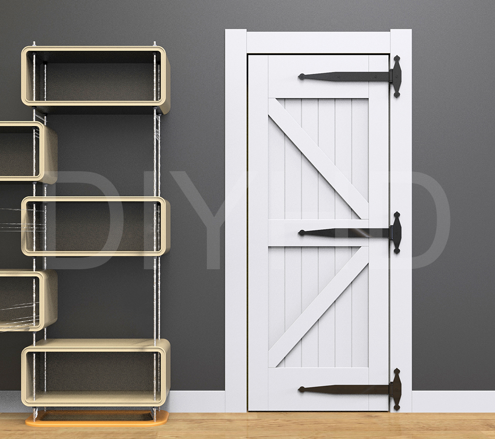 Diyhd 21 Quot Heavy Duty Rustic Black Steel Shed Door Barn