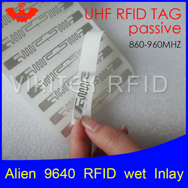 Alien authoried 9640 sticker UHF RFID wet inlay 860-960MHZ Higgs3 EPC C1G2 ISO18000-6C can be used to RFID tag and label