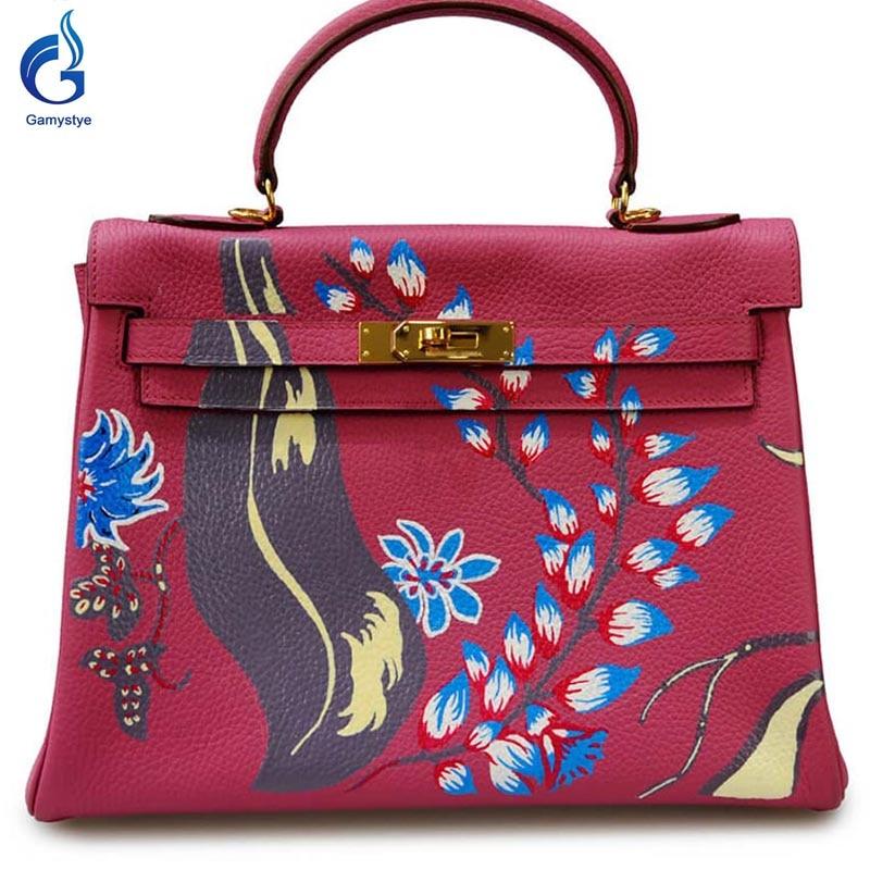 Beautiful Flower GAMYSTYE Graffiti Custom NAME bags women bags Messenger Bags Hand paint letters handbags ladies totes red YG beautiful darkness