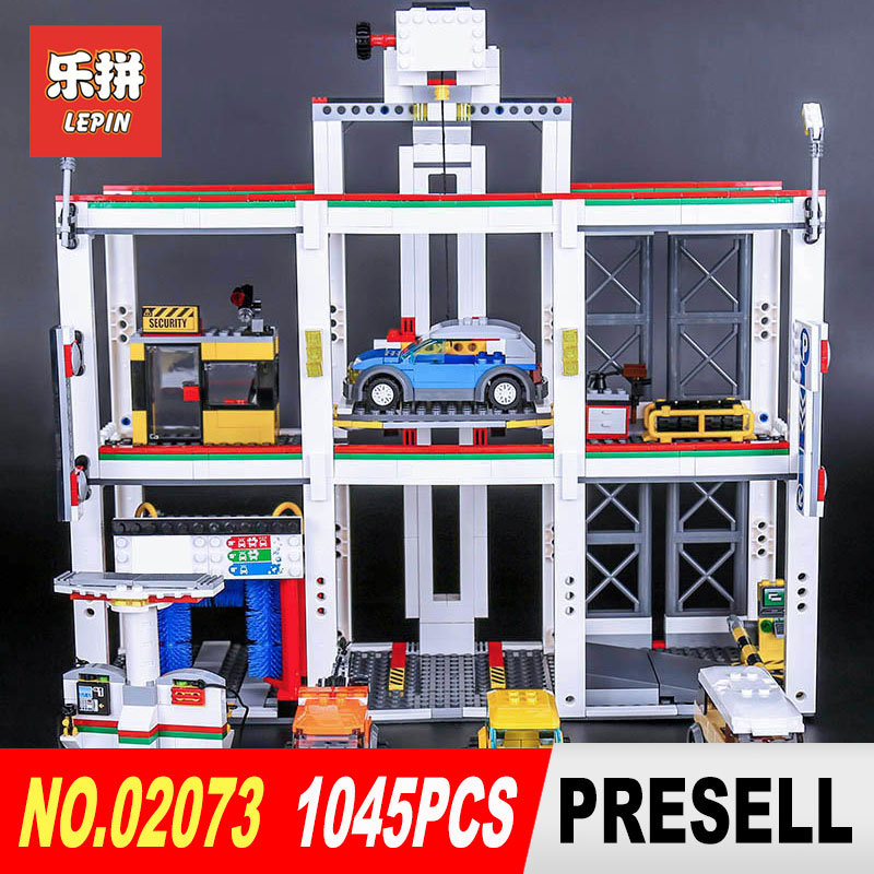1045Pcs Lepin 02073 Genuine Assemblage City Series The City Garage Set 4207 Building Blocks Bricks DIY Toys As Christmas Gift the new jjrc1001 lepin city construction series building blocks diy christmas gift for kid legoe city winter christmas hut toy