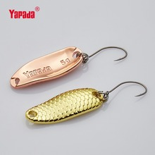 YAPADA Spoon 007 Loong Scale BKK HOOK 3.5g/5g 32-34mm Multicolor 6piece/lot  Metal Spoon Fishing Lures