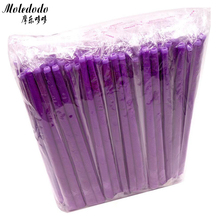 100Pcs/lot Dream Purple Aromatherapy Ear Candles Straight Wax Care with Earplugs D50