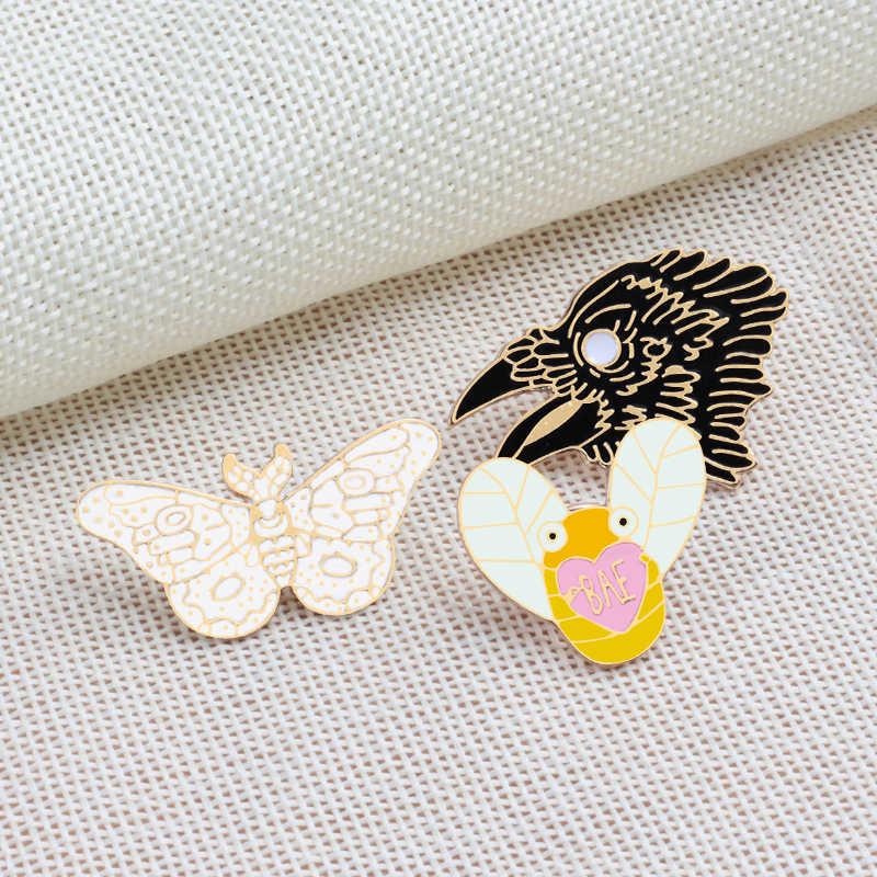 Новые милые Броши с животными женские модные пирсинг для пупка брошь Орел эмалированные булавки свитера куртки детский рюкзак украшения ювелирных изделий