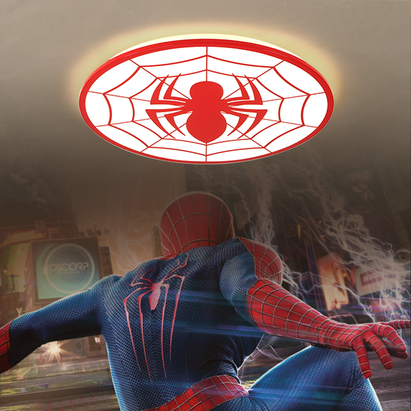 Modern Led Ceiling Lights for kids room Spider-Man shape Dimmable LED children lights for baby bedroom fixtures Lampara De Techo