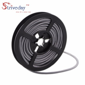1 Meter 26AWG 2Cores Multicores Shielded Wires Tinned Copper Controlled Cable Headphone UL2547 Black & Gray color image