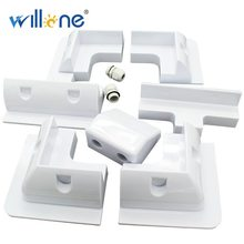 Willone Free shipping 2 Lot 7PCS ABS RV Solar Mounting for RV Motorhomes White