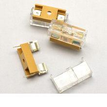 10 sztuk 5*20mm bezpiecznik szklany przezroczysty uchwyt z przezroczystą pokrywą bloki bezpieczników 5X20mm nagłówek ubezpieczenia tanie tanio HPJF Uchwyt bezpiecznika 5*20 black fuse holder