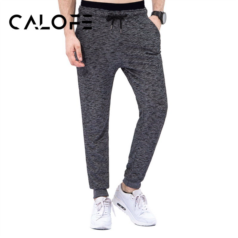 CALOFE Knitted Men Running Pants Soft Gym Bottoms Outdoor Run Jogging Leggin Elastic Win ...