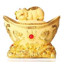 1 шт. украшения из смолы золотая свинья копилка слиток зодиака Свинья копилка открывающийся подарок на новоселье LU724135