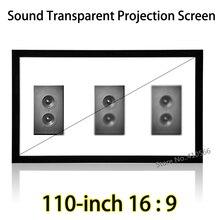 HD Tela Tecer Acusticamente Transparente 2.44×1.37 Metros de Espaço de Projeto Telas de Projeção Quadro Fixo de Montagem Na Parede