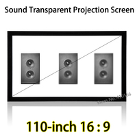 HD Weave Acoustically Transparent Screen 2.44x1.37 Meter Project Space Fixed Frame Wall Mount Projection Screens