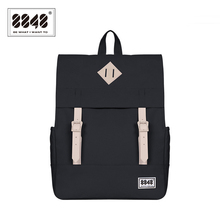 8848 Women Backpack Solid Pattern Schoolbags Casual Travel Capacity 14.2 L Resistant Knapsack Hot Sale Style Backpack173-002-004