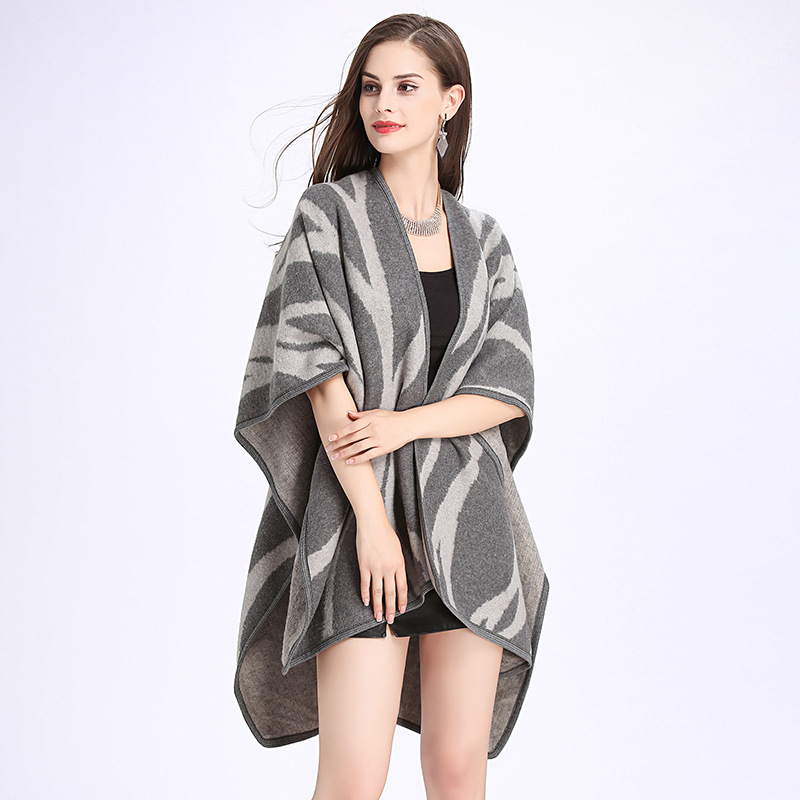 2017 Fashion Fall Women\'s Shawl Cloak Women\'s Lace Pattern Loose ...