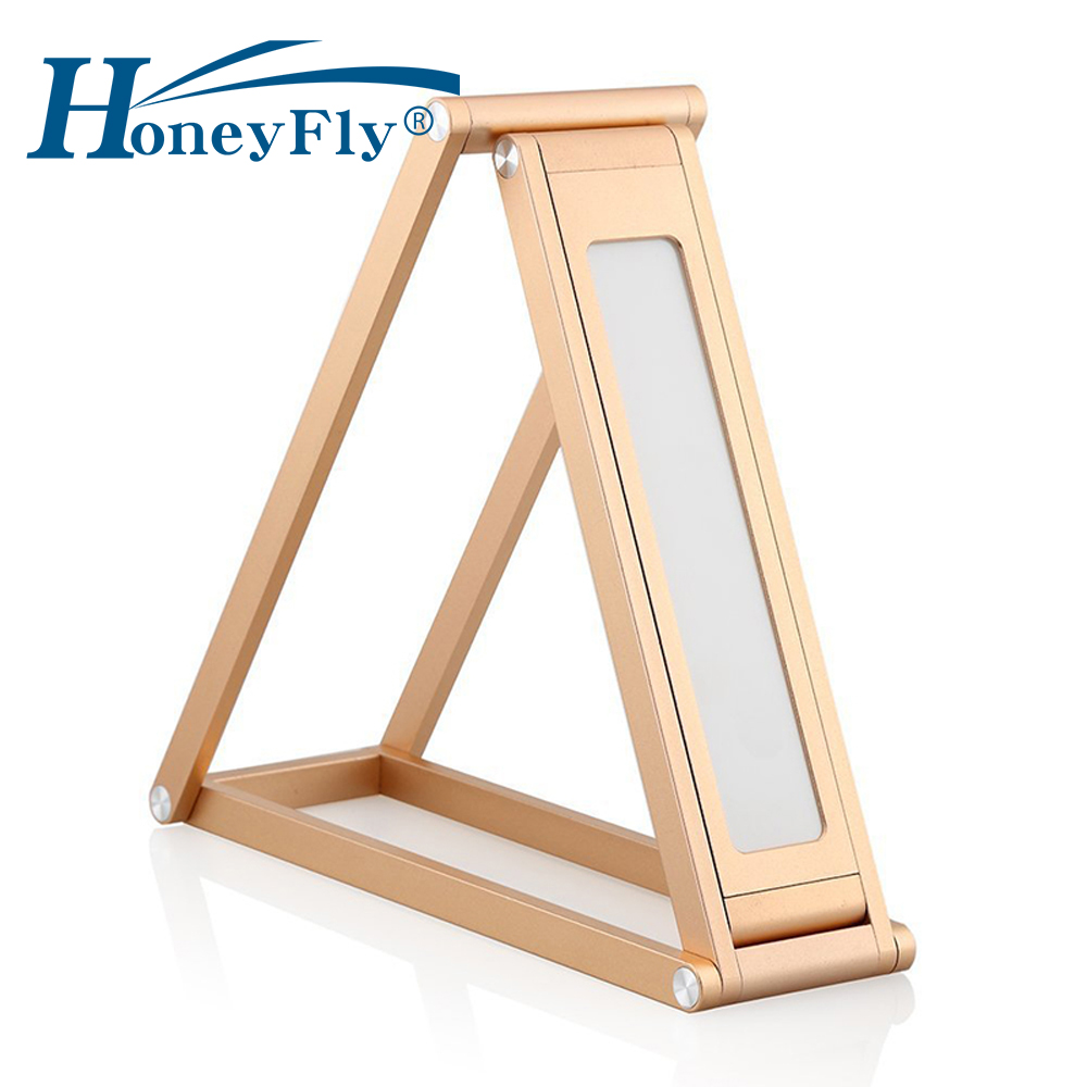 HoneyFly LED Desk Lamp 3W USB Rechargeable Multi-function Foldable LED Table Light Dimmable Aluminium Alloy Family Hotel Reading