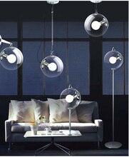 Envío libre Entrada retro bola de cristal de techo lámpara de iluminación interior del hogar Cocina luz de Techo luminaria de cristal Bar Cafetería luz