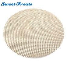 Sweettreats круглые для барбекю гриль сетка, антипригарный Гриль коврик для приготовления пищи/барбекю/выпечки сетки лист