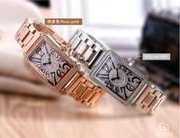 Top Luxury Brand GUOU Watch Women Fashion Rose Gold Ladies Watch Stainless steel Diamond Women Watches Clock relogio feminino