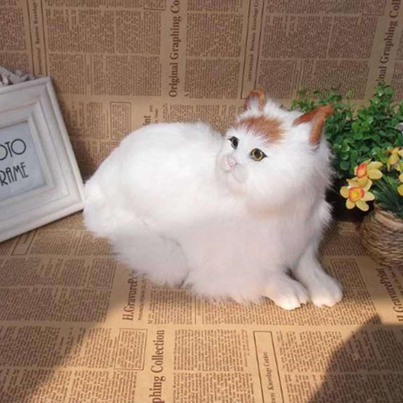 0be2a00e7806 ... Dorimytrader realistic animal lying cat plush toy lifelike mini cats  pet toy decoration gift 31x18cm DY80011