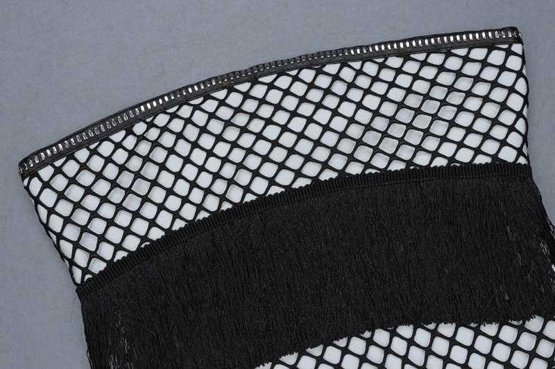 Bqueen 2019 Женская Новая мода с открытыми плечами выдалбливают мини без рукавов кисточкой Бандажное Клубное облегающее сексуальное платье-футляр