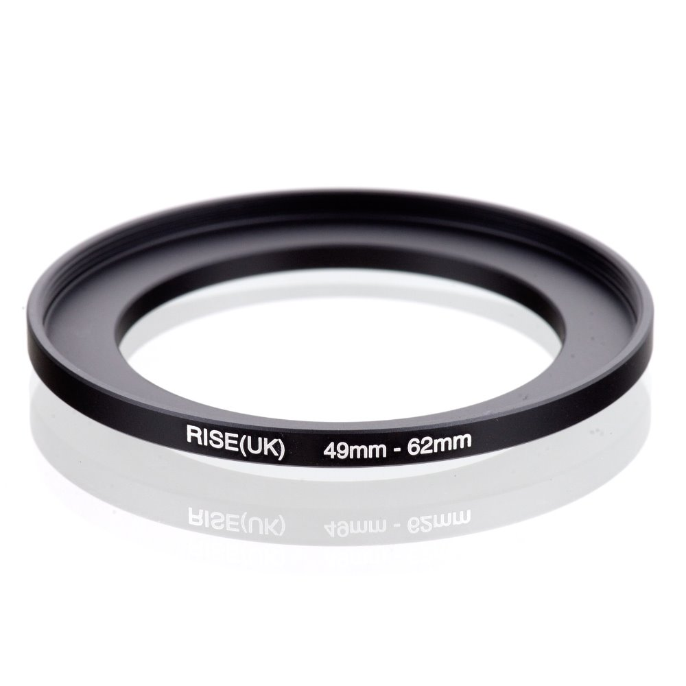 original RISE(UK) 49mm-62mm 49-62mm 49 to 62 Step Up Ring Filter Adapter black free shipping