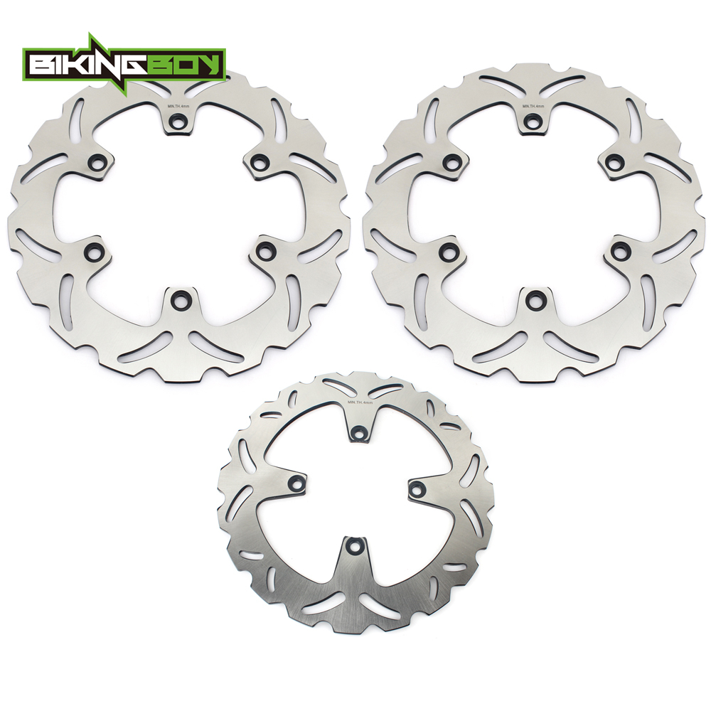 BIKINGBOY for Honda <font><b>VFR</b></font> <font><b>750</b></font> F 1990 1991 1992 1993 VFR750F 90 91 92 93 Front Rear Brake Discs Rotors Disks Set Motor Replacement image