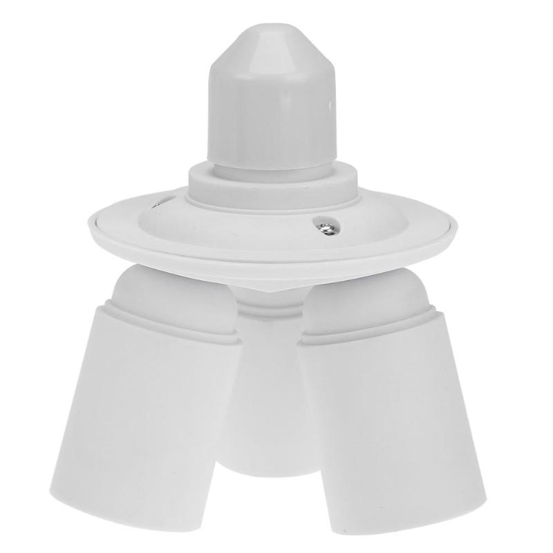 3 In 1 E26 E27 Edison Screw Bulb Base Light 3 Socket Extender 100-240V 180W Anti-Flame PBT Triple Light Socket Splitter Extender