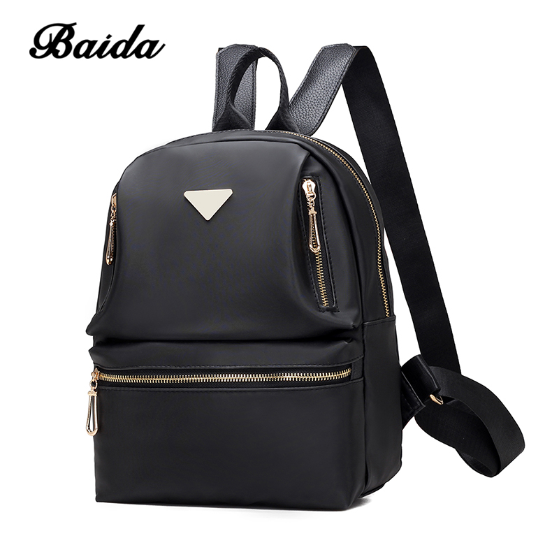 где купить Backpacks Nylon Travel Backpack 2017 Fashion Pattern Casual Backpacks Leisure Style Girl School Bags Women Bag по лучшей цене