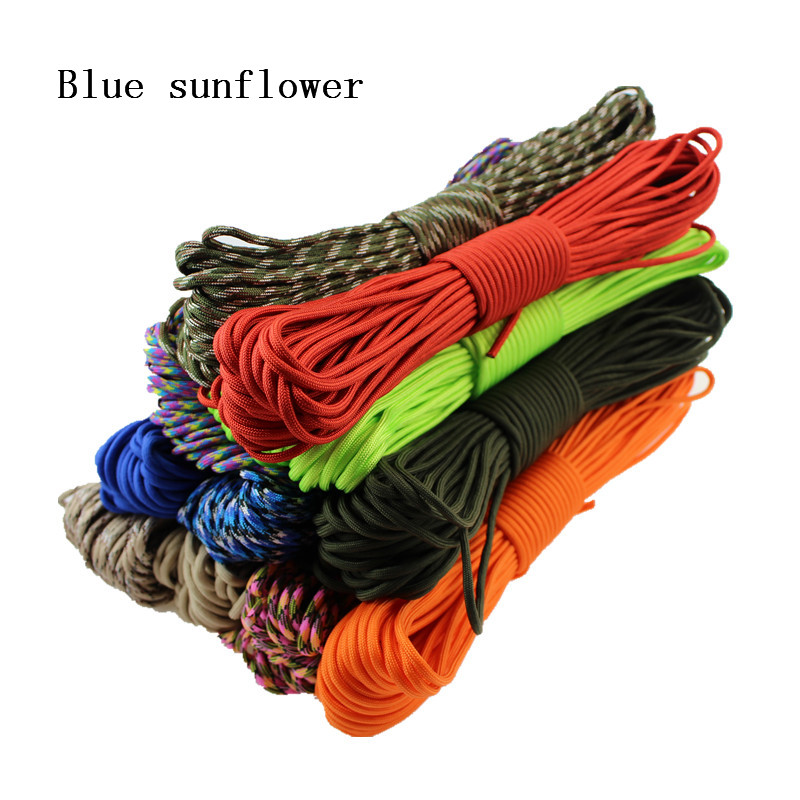 33ft 7 Cord Strand Paracord 550 Parachute Cord Lanyard Rope Mil Spec Cuerda EDC GEAR Carabiner Camping Survival Kit Equipment