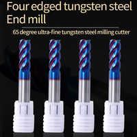 Augusttools Milling Cutter Endmill Metal Cutter HRC65 4 Flute Alloy Carbide End Mill 1mm 3mm 4mm 6mm 8mm 10mm 12mm Milling Tools