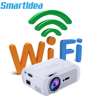 Smartldea 1800lumens Android6.0 Mini LED TV Projector HDMI 3D Home Theater Beamer Multimedia Full HD 1080P Video Game Proyector