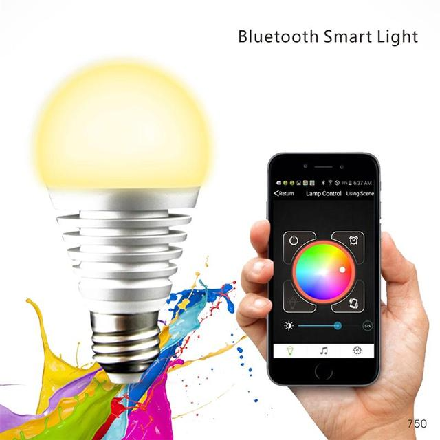 Smartphone Controlled Bluetooth Color Changing LED Light Bulb Light ...