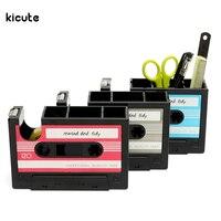 Vintage Cassette Adhesive Tape Holder Pen Holder Vase Pencil Pot Stationery Desk Tidy Container Office Stationery