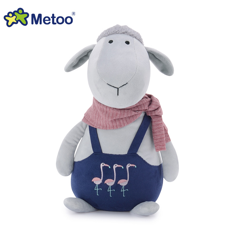 8.5 Inch Kawaii Plush Stuffed Animal Cartoon Kids Toys for Girls Children Baby Birthday Christmas Gift Sheep Metoo Doll 13 inch kawaii plush soft stuffed animals baby kids toys for girls children birthday christmas gift angela rabbit metoo doll