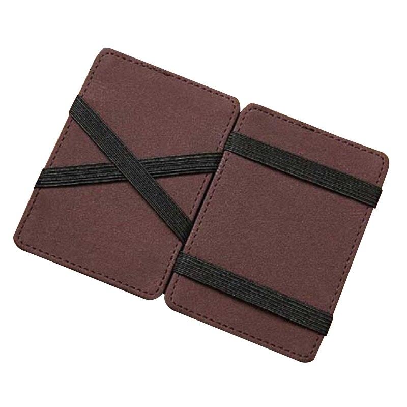 Jinbaolai Мини Магия нейтральный двойные бумажник сумка кошелек Поддержка карт роскошные кожаные (кофе темно-)