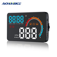 AOSHIKE D2500 4 Inch HUD OBD2 GPS Head Up Display HUD Digital Car Speedometer Travel Mileage Plug And Play Projector