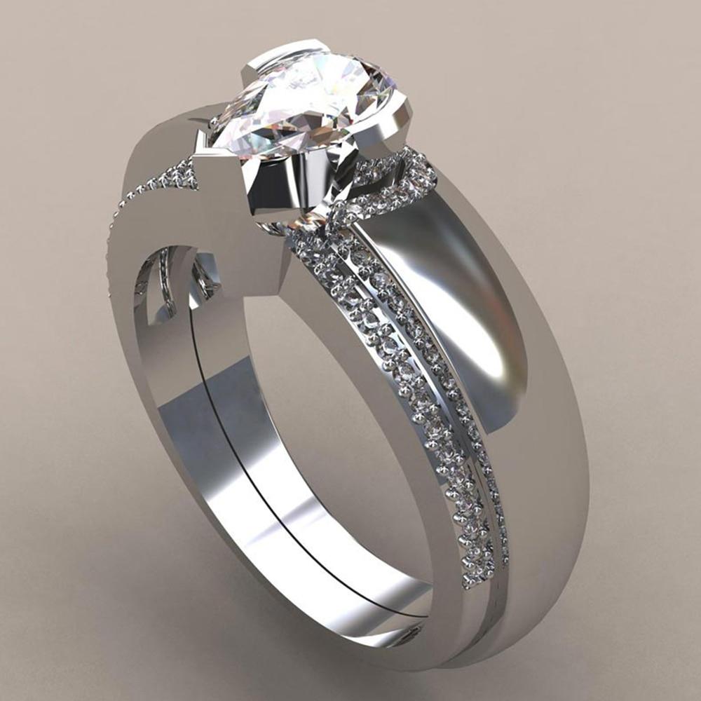 Zircon Rings Women Fashion Jewelry Accessories Stainless Steel Rings Female Fingers Decorations Rhinestone Jewelry